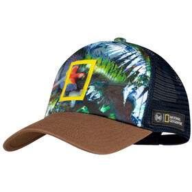 Buff Trucker Cap Men scarlett macaw